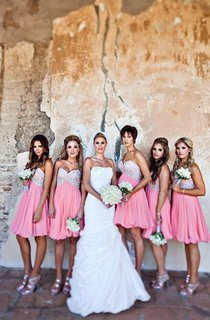 Glamorous Sweetheart Sleeveless Chiffon Bridesmaid Dress Short With Crystals