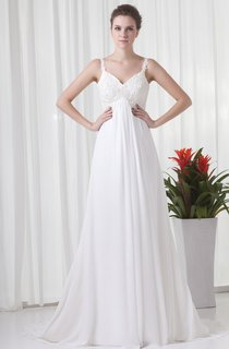 Spaghetti-Strap Empire Maxi Dress with Appliques