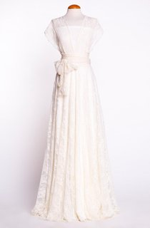 Convertible Lace A-Line Floor-Length Pleated Dress With Bow