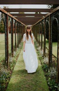 Luna Organic Beach Wedding Weddig Dress