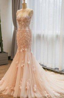 Trumpet Sweetheart Lace Dress