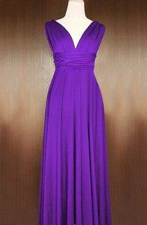 Barney Infinity Convertible Wrap Full Length Dress