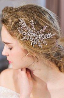 Western Style Retro Bridal Tiara Crystal Bride Hairpin