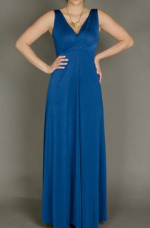 Blue Maxi With Suture Seams Designer Evening Evening Gown Bridesmaid Prom Cocktail Sexy Dress