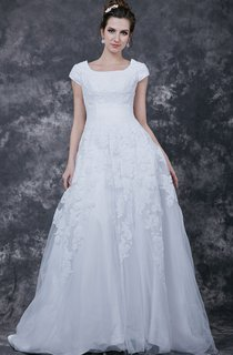 Vintage Style Modest Bridesmaid Dress With Court Train