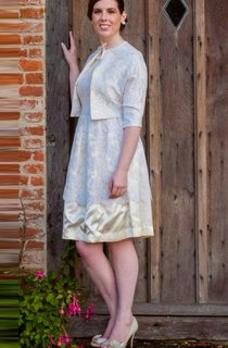 Claire 1950S Vintage Evening Bridal Outfit Dress
