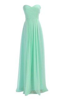 Sweetheart Criss-cross Chiffon A-line Dress With Lace-up Back