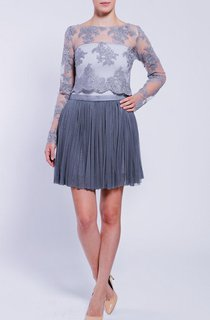 Gray Lace Blouse Off White Lace Blouse Elegant Top Romantic Top Party Blouse Wedding Eveining Evening Blouse Dress