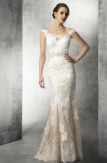 Mermaid Lace Wedding Gown With Beaded Waist