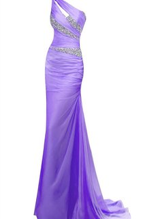 One-shoulder Long Sheath With Asymmetrical Sequins
