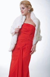 Gorgeous Ivory Faux Fur Bridal Cape