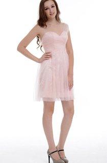 Short One-shoulder Chiffon&Organza Dress