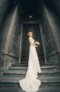 A-Line Long Sleeve Lace Weddig Dress