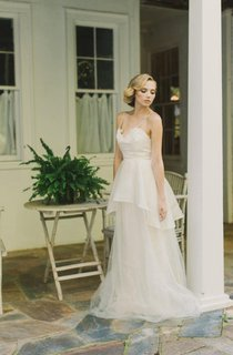 Backless Tulle Lace Organza Satin Charmeuse Weddig Dress