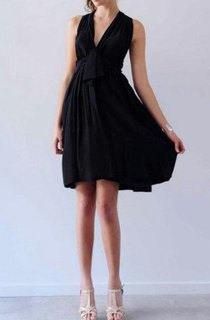 A-Line Short V-Neck Chiffon Dress With Pleats