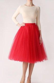 Red Tulle Skirt Handmade Long Skirt Handmade Tutu Skirt High Quality Skirt Tea Length Petticoat Tea Length Skirt Dress