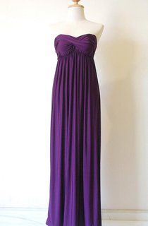Strapless Purple Chiffon Dress