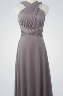 Overlap Backless Long Convertible Bridesmaid Dress
