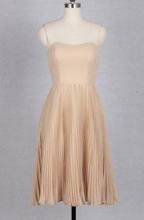A-line Knee-length Strapped Chiffon&Taffeta Dress