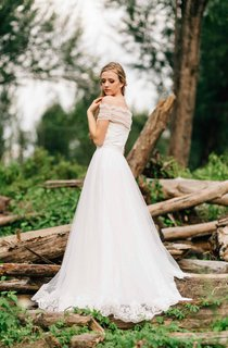 Sweetheart A-Line Tulle Wedding Dress With Tulle Bolero