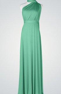 One-Shoulder Chiffon Sleeveless Floor-Length Backless Dress