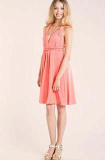 Coral Convertible Jersey Dress