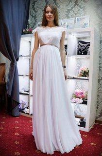 Empire Straps Empire Chiffon Lace Wedding Dress