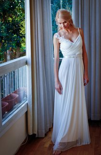 Chiffon Beaded Lace Backless Wedding Dress