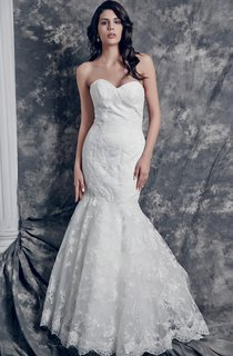 Sassy Sweetheart Mermaid Lace Gown With Chapel Train