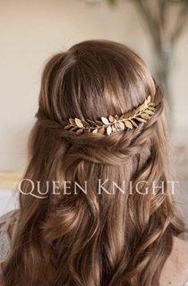 Vintage Western Style Style Golden Olive Leaf Hair Comb