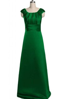 Elegant A-line Cap Sleeve Gown With Pleated Bodice