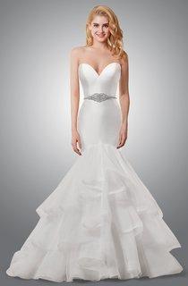 Modern Sweetheart Mermaid Wedding Dress With Cascading Ruffles