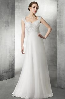 Empire Sweetheart Lace And Chiffon Wedding Gown
