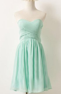 Mini Strapped Sweetheart Chiffon Dress