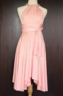Peach Convertible Wrap Dress