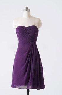 A-line Knee-length Sweetheart Chiffon Dress
