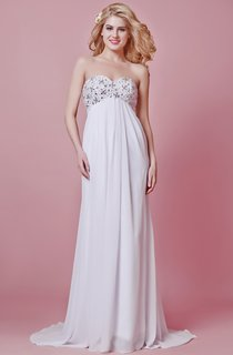 Chic Empire Waist Chiffon Maternity Wedding Dress With Beaded Bodice