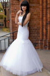 Elegant Sweetheart Lace and Tulle Mermaid Wedding Dress