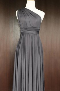 Short Straight Hem Slate Infinity Multiway Convertible Wrap Dress