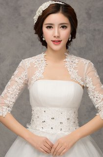 New Western Style Long-sleeved Lace Crystal Diamond Vest Small Shawl