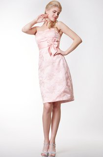 Simple Style Sheath Short Dress With Lace Appliques