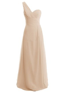 Pure One-shoulder Sweetheart A-line Gown With Ruched Band