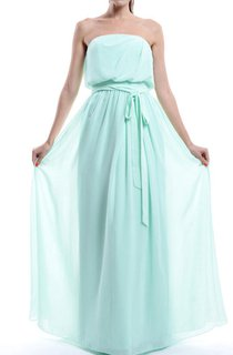 A-line Strapless Chiffon Dress