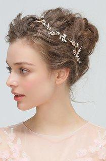 Golden Flower Headband Hairpin Hair Kit