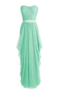 Chic Asymmetrical Ruched A-line Gown With Satin Band