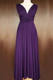 Grape Bridesmaid Infinity Convertible Wrap Floor-length Dress