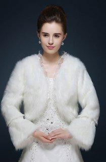 Bride Winter Wedding Wool Shawl Jacket Warm Long Sleeve Thickening Shawl