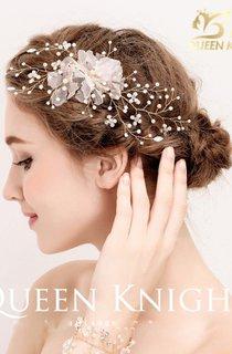 New Aesthetic Rhinestone Pearl Handmade Yarn Tassel Bride Headdress
