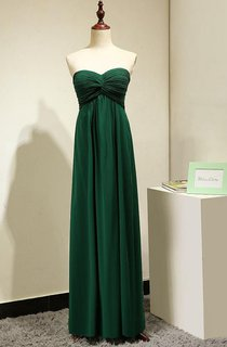 Floor-length Strapless Gown With Ruched Bodice