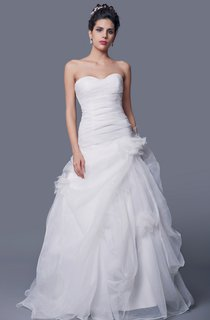 Exquisite Ruched Organza Wedding Gown With Pick-up Ruffles